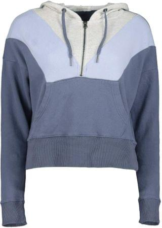 WOMEN Cashmere French Terry Color Block 1/2 Zip Hoodie. By Mod-o-doc. 63.00. Style Indigo Ink Color Block.