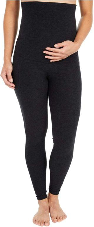 WOMEN Maternity Spacedye Out of Pocket High-Waisted Midi Leggings. By Beyond Yoga. 110.00. Style Darkest Night.