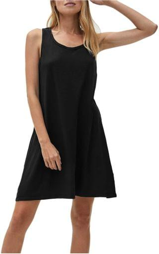 WOMEN Becca Vintage Jersey Tank Dress w/ Gathered Back. By Michael Stars. 78.40. Style Black. Rated 1 out of 5 stars.