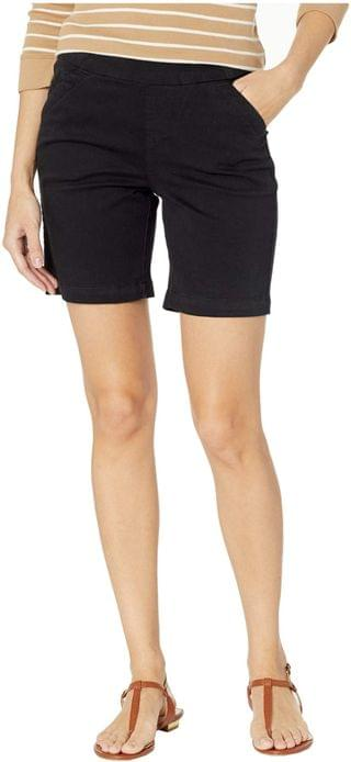 "WOMEN 7"" Petite Gracie Pull-On Shorts in Twill. By Jag Jeans Petite. 53.10. Style Black."