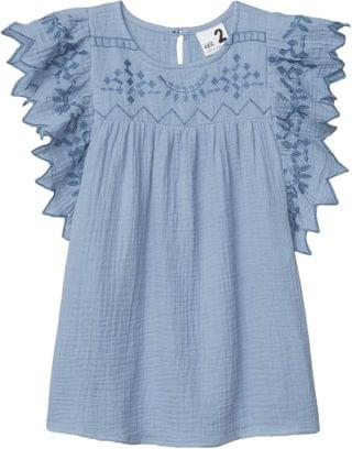 KIDS Maggie Short Sleeve Dress (Toddler/Little Kids/Big Kids). By COTTON ON. 24.99. Style Dusty Blue.