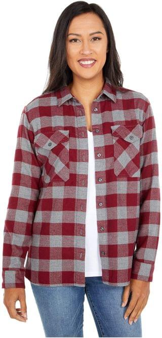 WOMEN Elbow Patch Flannel Shirt. By Pendleton. 99.50. Style Cabernet/Grey Check. Rated 5 out of 5 stars.