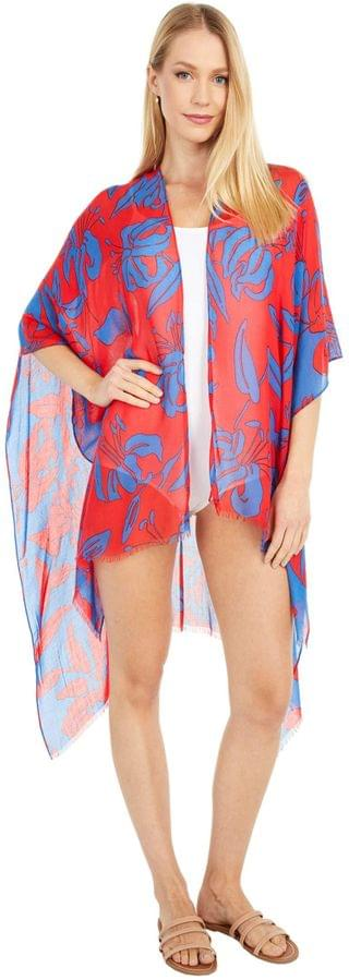 WOMEN Bicolor Lily Printed Ruana. By Echo New York. 59.00. Style Passion Flower.