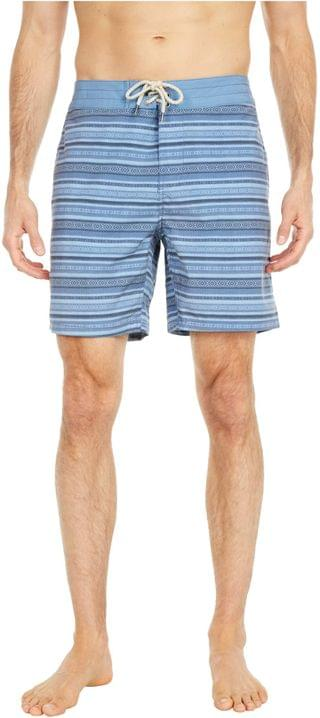 "MEN Classic 7"" Boardshorts. By Faherty. 98.00. Style Blue Falls Ikat."