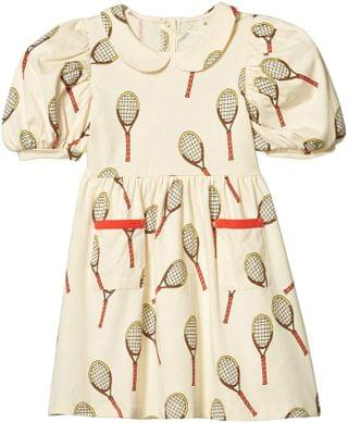 KIDS Tennis All Over Printed Short Sleeve Dress (Toddler/Little Kids/Big Kids). By mini rodini. 70.00. Style Off-White.