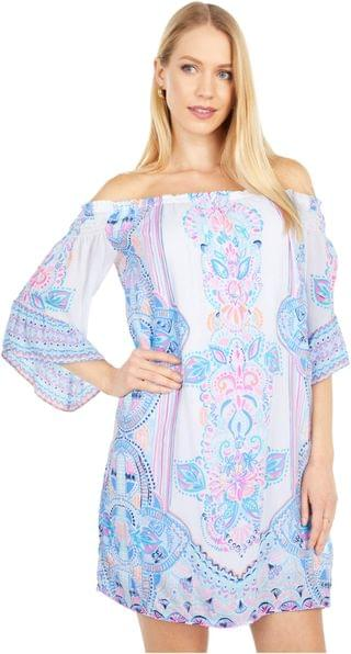 WOMEN Fawna Dress. By Lilly Pulitzer. 178.00. Style Resort White Chic Retreat Engineered Woven.