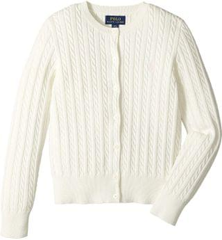 KIDS Cable Knit Cotton Cardigan (Little Kids/Big Kids). By Polo Ralph Lauren Kids. 49.50. Style Warm White/French Pink Pony Player. Rated 5 out of 5 stars.