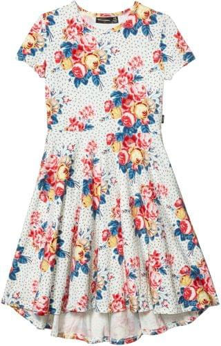KIDS Rock Your Baby - Antique Chintz Short Sleeve Waisted Dress (Toddler/Little Kids/Big Kids)