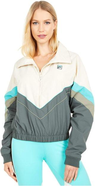 WOMEN Chiaki 2 Jacket. By Fila. 84.99. Style Turtle Dove/Urban Chic/Blue Turquoise/Vetiver.