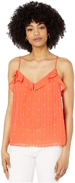 WOMEN Emery 'Dot' Ruffle Chiffon Camisole w/ Keyhole. By Cupcakes and Cashmere. 44.50. Style Hot Coral.