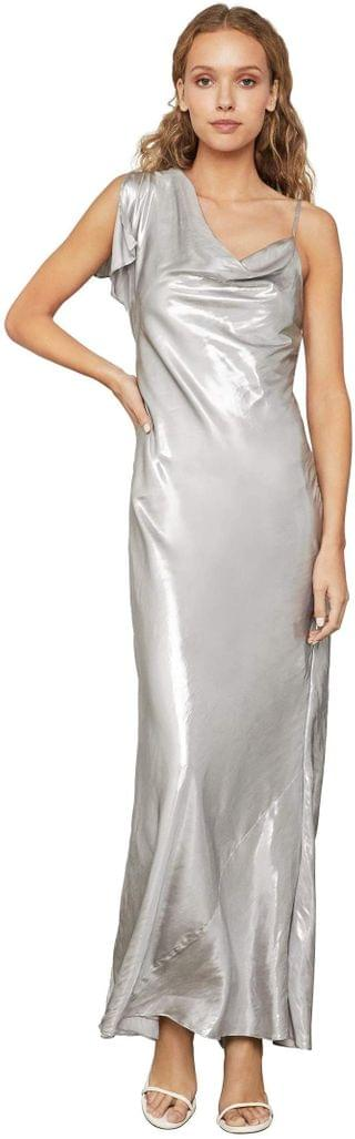 WOMEN Lame One Shoulder Gown. By BCBGMAXAZRIA. 181.78. Style Silver.