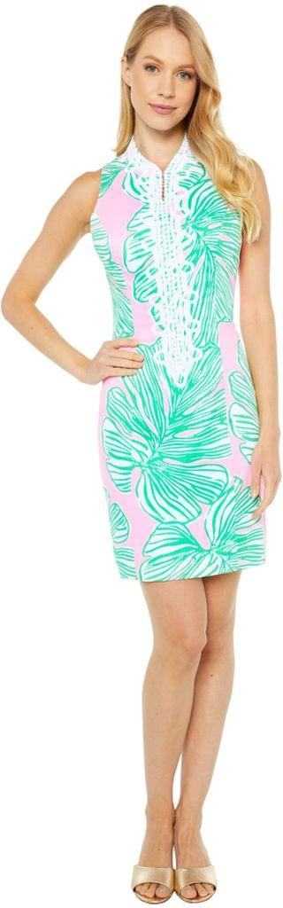 WOMEN Alexa Stretch Shift Dress. By Lilly Pulitzer. 198.00. Style Mandevilla Baby Who Let The Fronds Out.