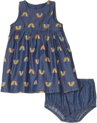 KIDS Sleeveless Rainbow Chambray Dress Early (Infant). By Stella McCartney Kids. 75.99. Style Blue Multi. Rated 5 out of 5 stars.