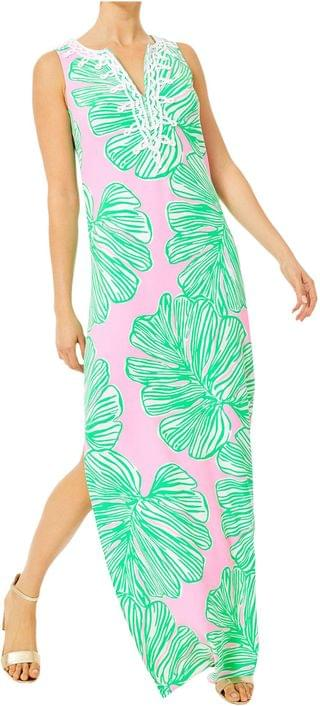 WOMEN Carlotta Maxi Dress. By Lilly Pulitzer. 248.00. Style Mandevilla Baby Who Let The Fronds Out.