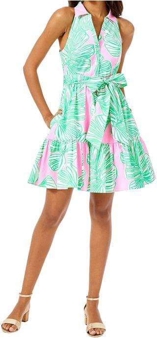 WOMEN Trisha Stretch Shirtdress. By Lilly Pulitzer. 198.00. Style Mandevilla Baby Who Let The Fronds Out.