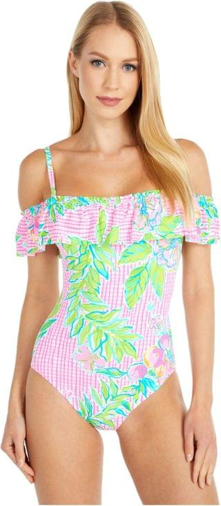 WOMEN Fiesta One-Piece. By Lilly Pulitzer. 148.00. Style Multi Dont Stop Beleafing.
