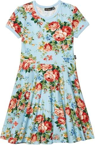 KIDS French Floral Short Sleeve Waisted Dress (Toddler/Little Kids/Big Kids). By Rock Your Baby. 55.00. Style Light Blue.