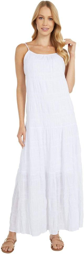 WOMEN BB Dakota - Roman Holiday Puckered Cotton Voile Tent Dress