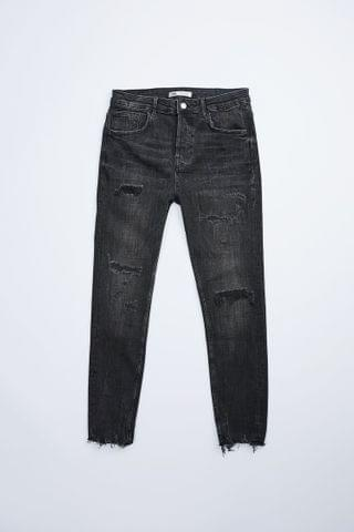 MEN TAPERED FIT RIPPED JEANS