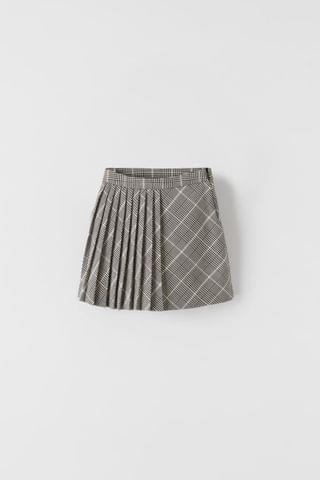 KIDS PLEATED PLAID SKIRT