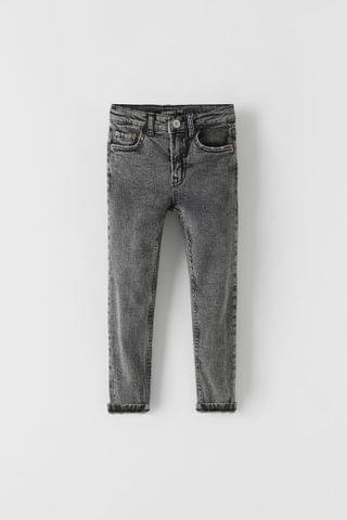 KIDS FADE OUT WASH BLACK SKINNY JEANS