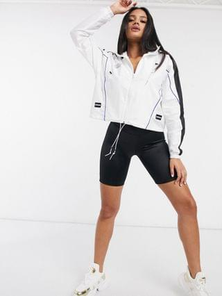 WOMEN Puma Queen pullover windbreaker in white and silver