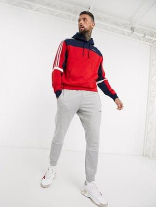 adidas Originals hoodie with cut and sew in red