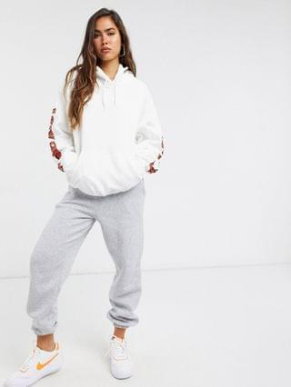 WOMEN New Girl Order oversized lazy beach hoodie in white