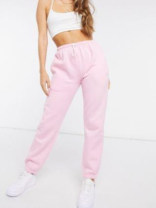 WOMEN Daisy Street relaxed sweatpants with yin/yang embroidery in pastel co-ord