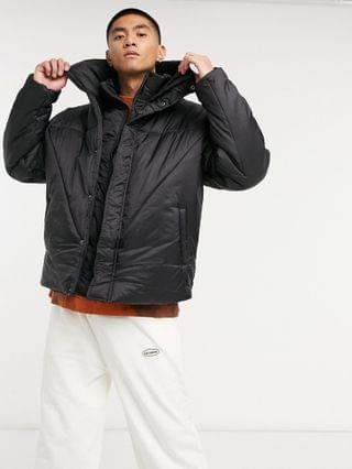 COLLUSION puffer jacket with double layer in black