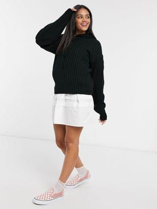 WOMEN In The Style x Lorna Luxe lullaby ribbed hoodie two-piece in stone