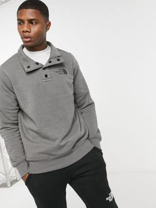 The North Face snap-close pullover fleece in gray