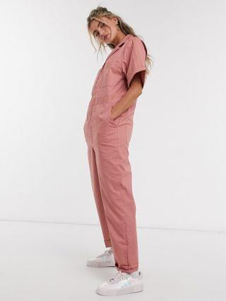 WOMEN adidas Originals New Neutrals logo boilersuit in pink