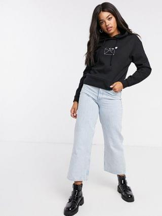 WOMEN Wednesday's Girl cropped hoodie with love letter print