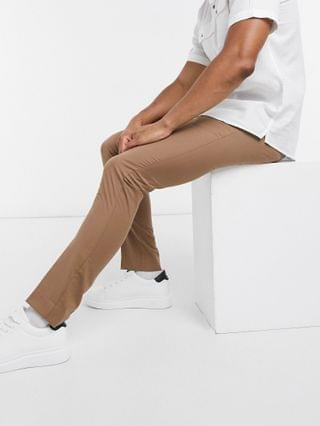 New Look skinny suit pants in tan