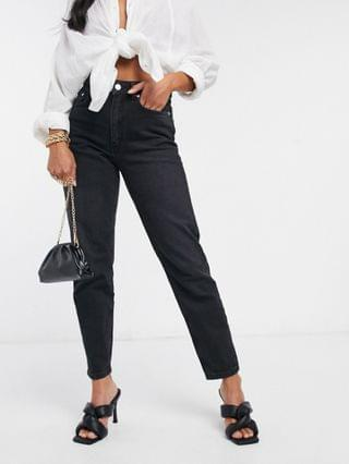 WOMEN Petite hourglass high rise 'lift and contour' slim mom jeans in washed black
