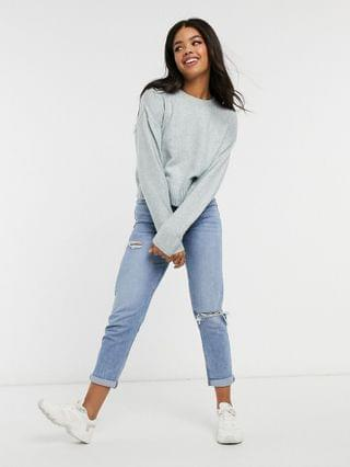 WOMEN New Look crew neck sweater in light green