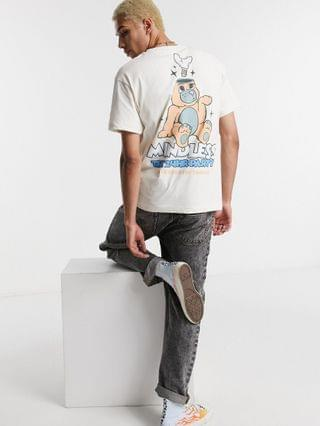 Crooked Tongues oversized t shirt with 24 hour party back print