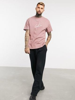 The Couture Club signature print regular fit t-shirt in rust