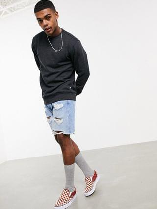 MEN Vans Basic crewneck fleece sweatshirt in black