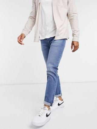 TEST LEVI Levi's 512 slim tapered fit low rise jeans in cedar light mid overt advanced wash