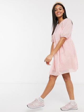 WOMEN New Look smock dress with slip in pink gingham