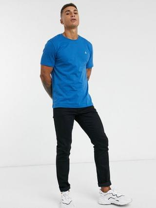 Original Penguin pinpoint t-shirt in blue with small logo