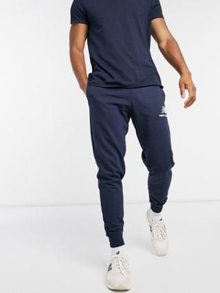 New Balance stacked logo sweatpants in navy
