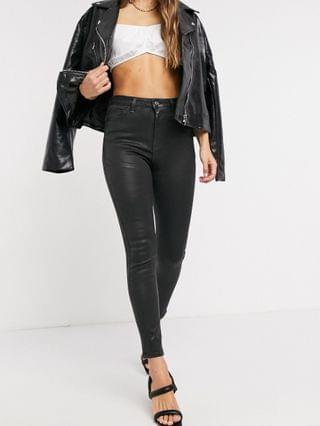 WOMEN Hourglass 'lift and contour' skinny jeans in coated black