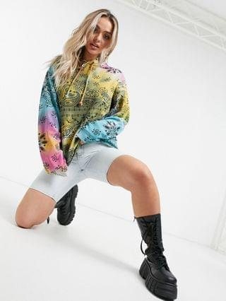 WOMEN Jaded London oversized hoodie in grunge tie-dye and graphics matching set