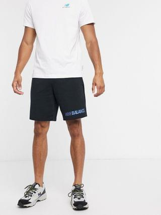 New Balance speed logo shorts in black