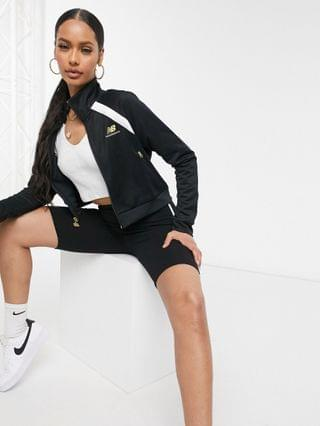 WOMEN New Balance cropped jacket in black