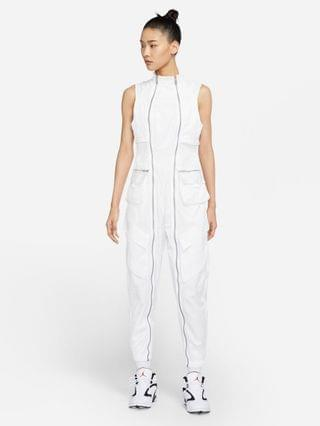 WOMEN Jordan jumpsuit in white with utility pockets