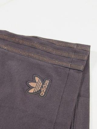 WOMEN adidas Originals Plus New Neutrals logo high waisted shorts in dark brown